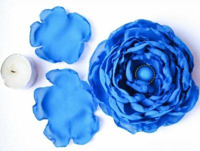 как сделать синие розы